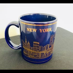 Other - 🔥New York coffee mug 80s 90s vintage gold blue